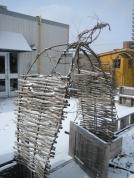 5' x 6' x 3' ash, vine, 2012 (Access-Point on Danforth))