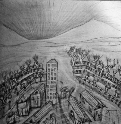 sandarchy, graphite on paper, 10