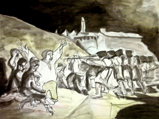 1746-1828. watercolor and ink on paper.