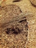 April – October 2015 – Macgregor Park – Livegreen/O.A.C./Canada Council for the Arts-woven Hazel garden edging- material supplied by P & H organics- – http://www.phorganics.com/-