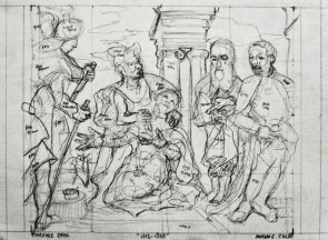 "1528-1558. 17""-12"". pencil on paper."