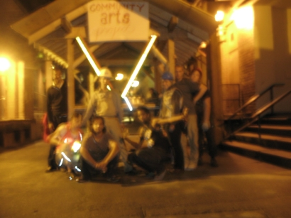 this is the only image you will ever see of convincing SKETCH participants, artists and leaders to go anywhere at 5am-to push the cart on the city streets.